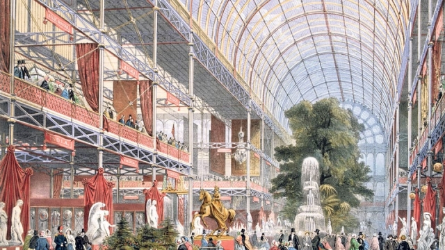 The Transept at the Great Exhibition in Crystal Palace, the glass and iron building designed by Joseph Paxton, at Hyde Park in 1851 (Photo: Hulton Archive/Getty)