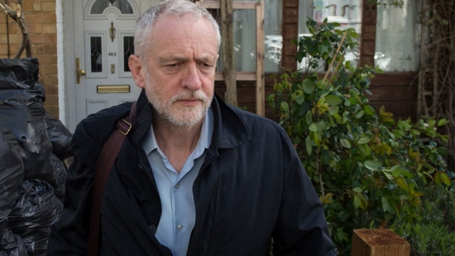 Jeremy Corbyn Leaves His North London Home