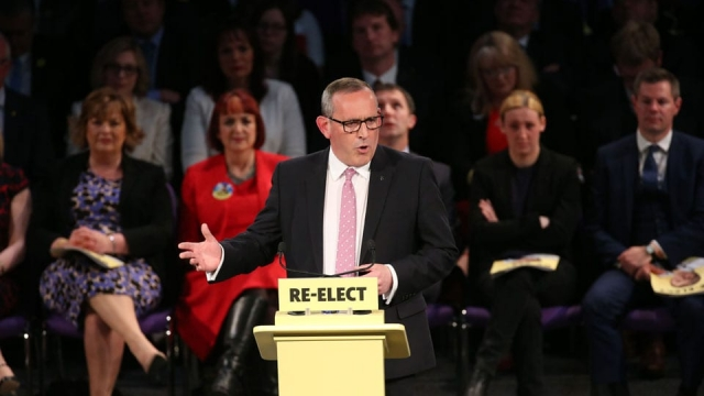 Deputy SNP Leader Stewart Hosie speaks at the party's Scottish Parliament election manifesto launch in Edinburgh last week. (Photo: PA)