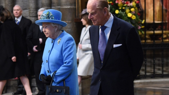 The Queen and the Duke of Edinburgh pictured earlier in 2016