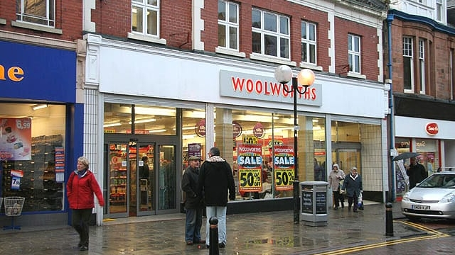 A Woolworths store in Galashiels in the Scottish Borders. The retailer disappeared from high streets in 2009.