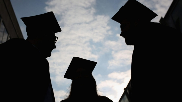 Students graduating from university
