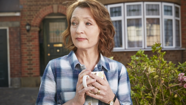 Lesley Manville stars in the new sitcom, 'Mum'