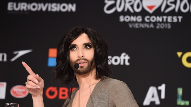 Conchita Wurst, winner of the 2014 Eurovision Song Contest, for Austria.