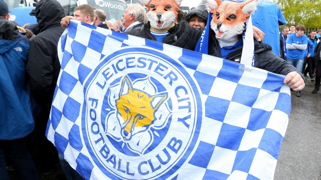Leicester City fans during the Premier League winning season.