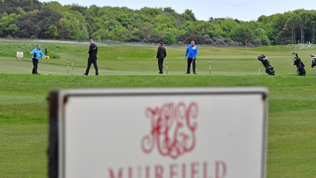 Golfers enjoying a round at Muirfield on the day that the club's decision on female members was announced (Photo: Getty)