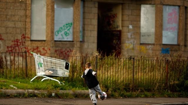 Child poverty has risen sharply, says new report