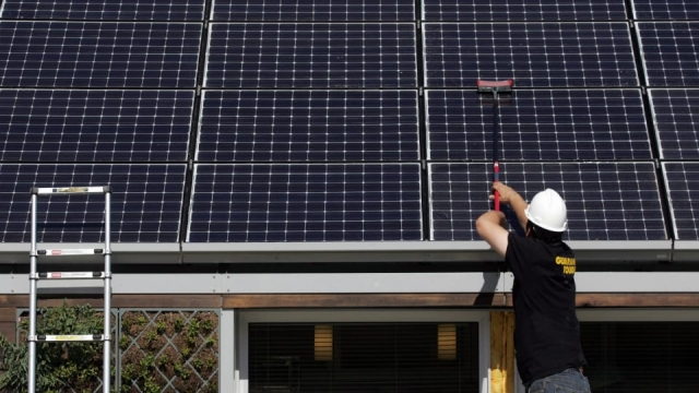 (Photo: Getty) Energy from solar panels could be stored for more than a decade in a flow battery