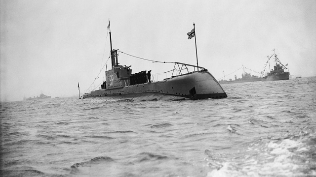 The 'HMS Otway', an Odin class submarine of the Royal Navy, pictured in Weymouth Bay in 1939. (Photo: Getty)