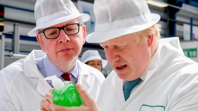 'It says, unfit for human consumption...' Michael Gove and Boris Johnson, pictured together in happier times. (Andrew Parsons/PA Wire)