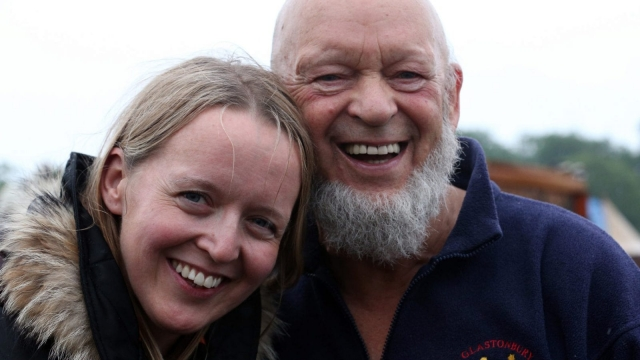 Festival founder Michael Eavis and his daughter Emily at Glastonbury 2013 (Photo: Getty Images)