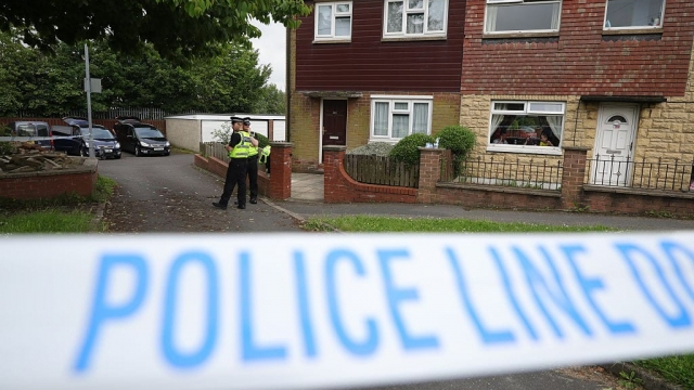 Police cordon off the scene at murder suspect Thomas Mair's house (Photo by Christopher Furlong/Getty Images)