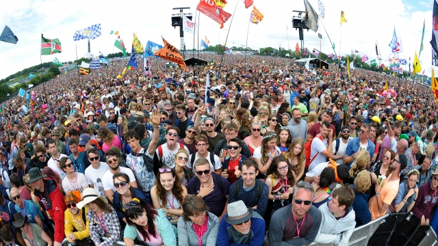 Pyramid Stage crowd on day four of the Glastonbury Festival. Photo: ANDY BUCHANAN/AFP/Getty Images