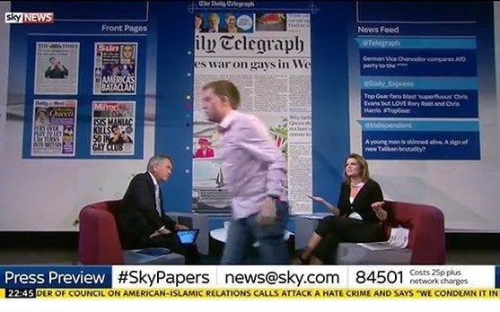 Owen Jones walks off Sky News set