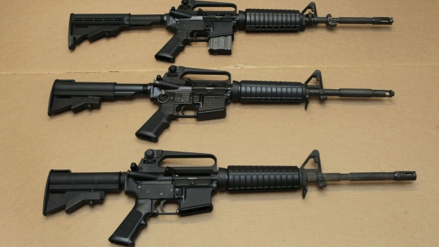 Article thumbnail: Three variations of the AR-15 assault rifle. Omar Mateen used an AR-15 that he purchased legally when he killed 49 people in the nightclub