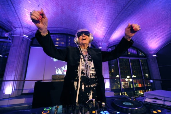 Sixty-nine-year-old English deejay Ruth Flowers aka DJ Mamy Rock from Bristol, England performs in her first New York appearance at the Carter Burden Center for the Aging's 31st Annual Dinner Dance and Awards Ceremony in New York November 29, 2010. Flowers, a grandmother, is taking the European dance club circuit by storm. AFP PHOTO / TIMOTHY A. CLARY (Photo credit TIMOTHY A. CLARY/AFP/Getty Images)