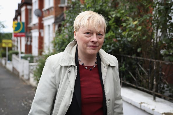 "Angela Eagle has urged Jeremy Corbyn to ""get control"" of his supporters after a brick was thrown through the window of her Wallasey constituency office. (Photo by Dan Kitwood/Getty Images)"