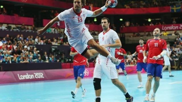 Serbia versus Croatia at the London 2012 Olympic Games
