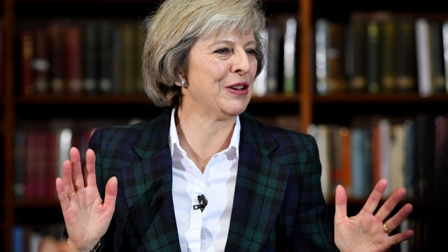 Theresa May launching her leadership campaign (Photo: Getty)