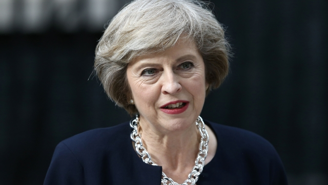 Theresa May was relaxed and confident in PMQs (Picture: JUSTIN TALLIS/AFP/Getty Images)