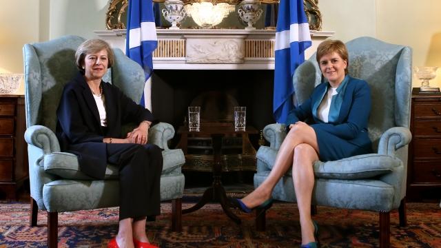 Nicola Sturgeon with Theresa May (Photo: Getty)