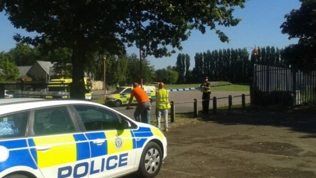 The scene of the incident at Spalding Castle Sports Complex in Lincolnshire