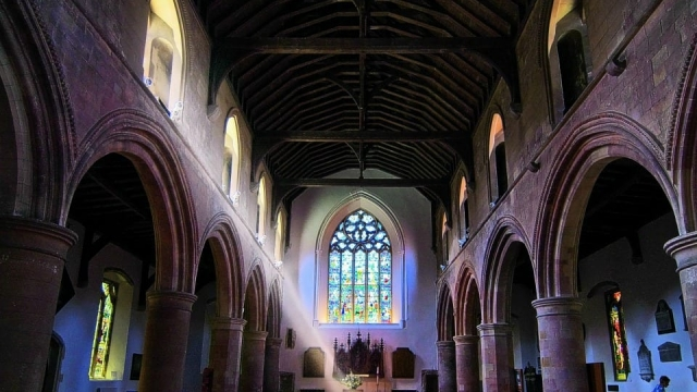 St Mary's Parish Church in Rye, where some medieval graffiti can be found