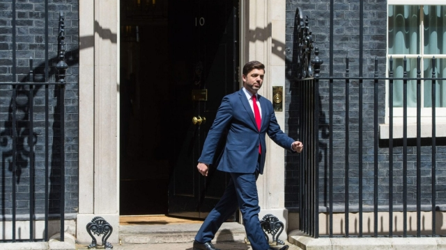 Stephen Crabb leaves Downing Street today (Photo: PA)