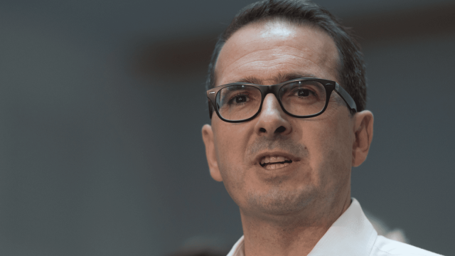 Owen Smith, Labour MP for Pontypridd, launches his Labour leadership campaign at Coleg y Cymoedd (Photo: Getty)