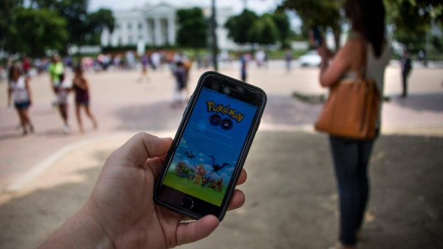 Pokemon Go on a phone screen