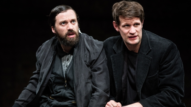 Richard Pyros and Matt Smith star in 'Unreachable' at the Royal Court. Photo: Matt Humphrey
