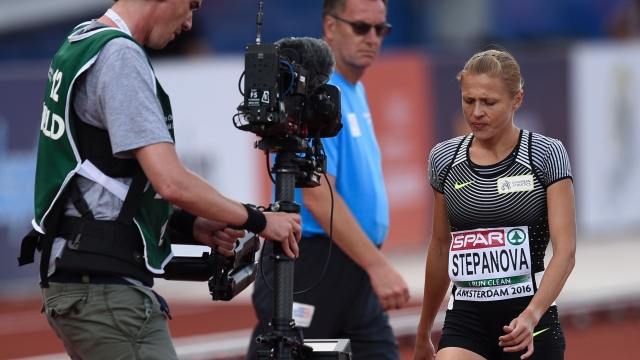 Russia's Yulia Stepanova's return to the track was marred by injury at the European Athletics Championships