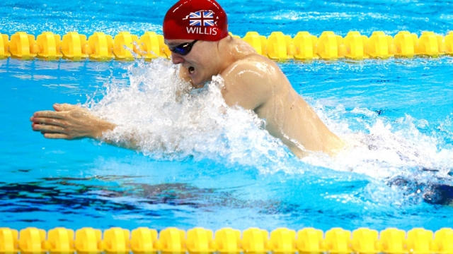 British swimmer Andrew Willis misses out on bronze by an eight hundredth of a second in the men's 200m breaststroke (Photo: Adam Pretty/Getty Images)