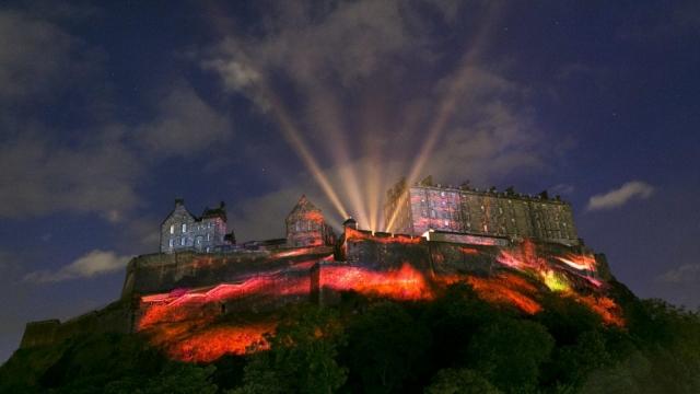 Edinburgh Castle provided the canvas for a spectacular light and sound display (Photo: Eoin Carey)