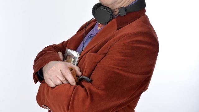 Angus Deayton in Radio Active at the Edinburgh Festival Fringe. Photo: Steve Ullathorne