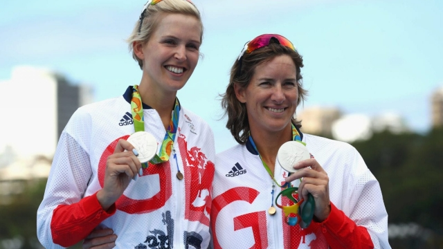 Victoria Thornley and Katherine Grainger pose with their medals in Rio (Photo: Getty)