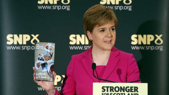 Nicola Sturgeon announced the Growth Commission earlier this month at an event in Stirling (Photo: PA Wire)