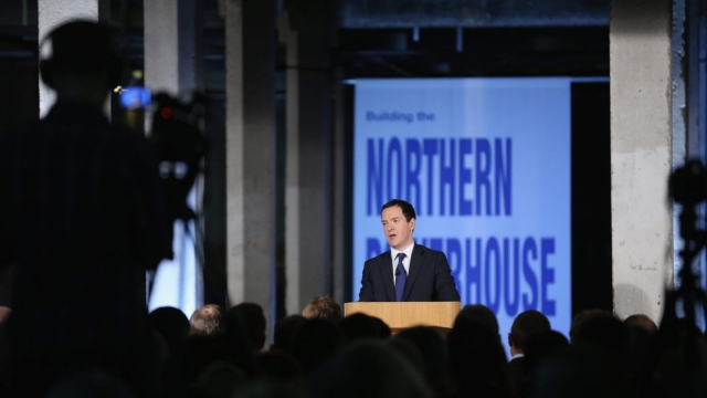 George Osborne, pictured when he launched his Northern Powerhouse plans in 2014. (Photo by Christopher Furlong - WPA Pool/Getty Images)