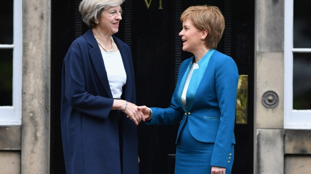 Theresa May travelled to Scotland days after being named Prime Minister (Photo: Getty)