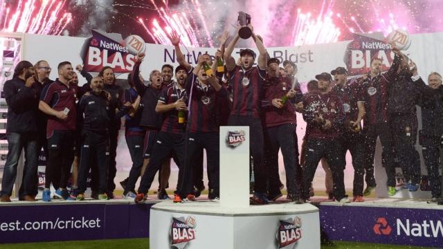 Northamptonshire celebrate after winning the 2016 Natwest T20 Blast