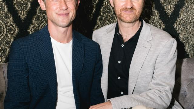 Ian Hallard and Mark Gatiss. Photo: Darren Bell