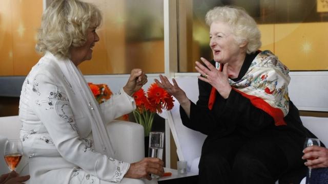 The Duchess of Cornwall speaks to Rabbi Julia Neuberger (Photo: Getty)