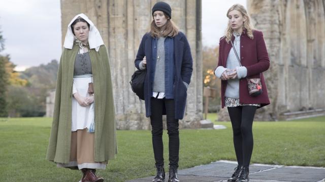Alice Lowe, Laura Carmichael and Chloe Pirie star in 'Burn Burn Burn'