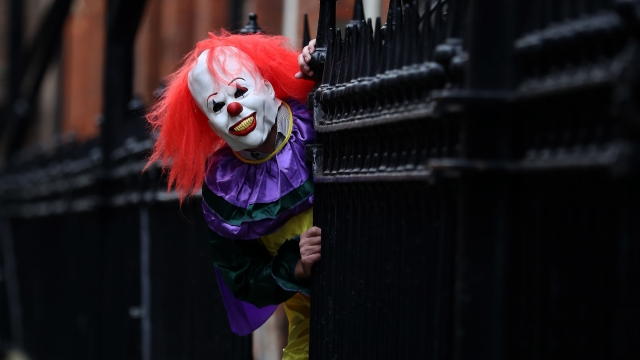 """Article thumbnail: The """"killer clown"""" craze spread across the UK in 2016 (Peter Byrne/PA Wire)"""