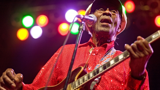 Chuck Berry marked his 90th birthday by announcing the release of a new studio album, Chuck, due out next year (Photo: Getty Images)