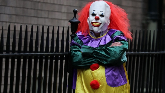 The 'killer clown' craze has continued to spread across the UK with one force dealing with 14 reports in 24 hours (Photo: PA)