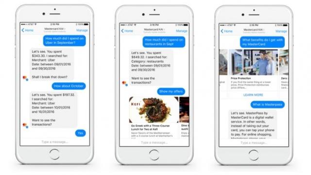 (Photo: Mastercard) Mastercard is building new conversational chatbot platforms