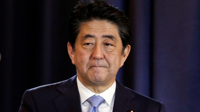Japanese Prime Minister Shinzo Abe gestures during a press conference in Buenos Aires, Argentina, November 21, 2016. (Photo credit: REUTERS/Agustin Marcarian)