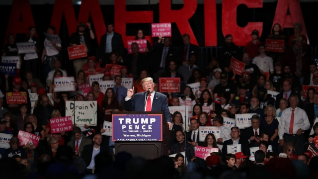Donald Trump speaks in Michigan (Photo: Getty)