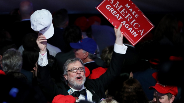 Supporters of Republican presidential nominee Donald Trump cheer during election night (Photo: Getty)